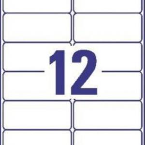 Белые высокопрочные этикетки из полиэстера, 99.1 x 42.3, L4776-20