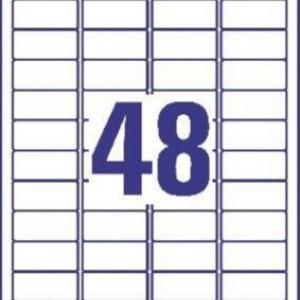 Белые высокопрочные этикетки из полиэстера, 45.7 x 21.2, L4778-20