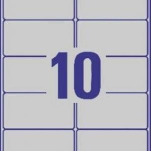 Серебристые этикетки из полиэстера, 96 x 50.8, L6012-20
