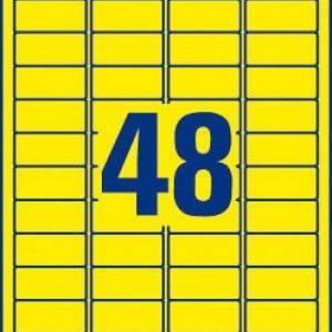 Желтые высокопрочные этикетки из полиэстера, 45.7 x 21.2, L6103-20