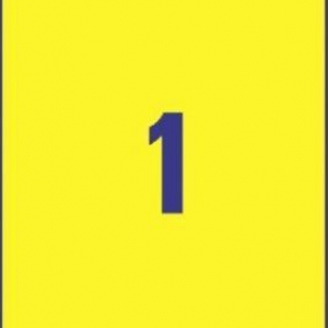 Желтые высокопрочные этикетки из полиэстера, 210 x 297, L6111-20