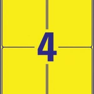 Желтые стойкие этикетки из полиэстера, 99,1 x 139, L6127-20
