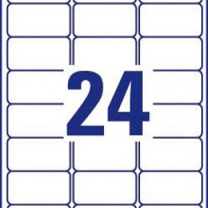 """Белые этикетки """"Тройная стойкость"""" TripleBond™ из полиэстера, 63.5 x 33.9, L6141-20"""
