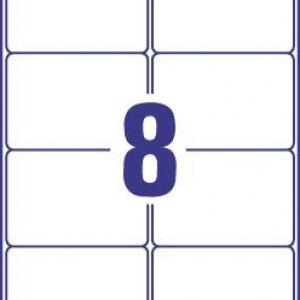 Белые стойкие этикетки из полиэстера, 99,1 x 67,7, L4715-20