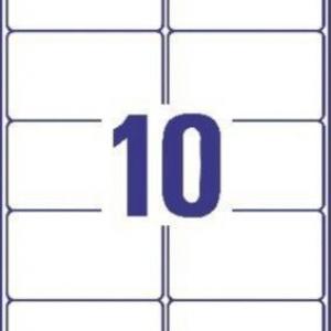 Белые матовые влагостойкие этикетки из полиэстера, 99.1 x 57, L7992-25