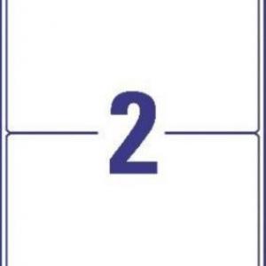 Белые непросвечивающиеся этикетки BlockOut из бумаги, 199.6 x 143.5, L7168-100
