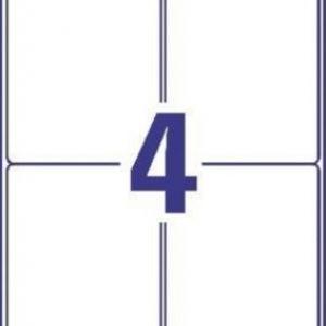 Белые непросвечивающиеся этикетки BlockOut из бумаги, 99.1 x 139, L7169-100