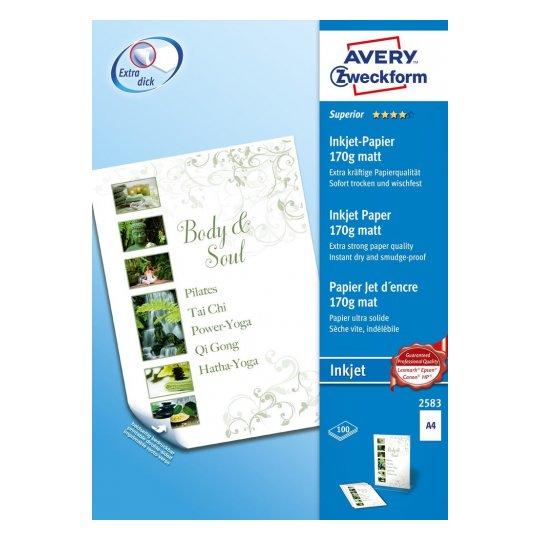 Высококачественная бумага матовая для струйных принтеров, А4, 2583
