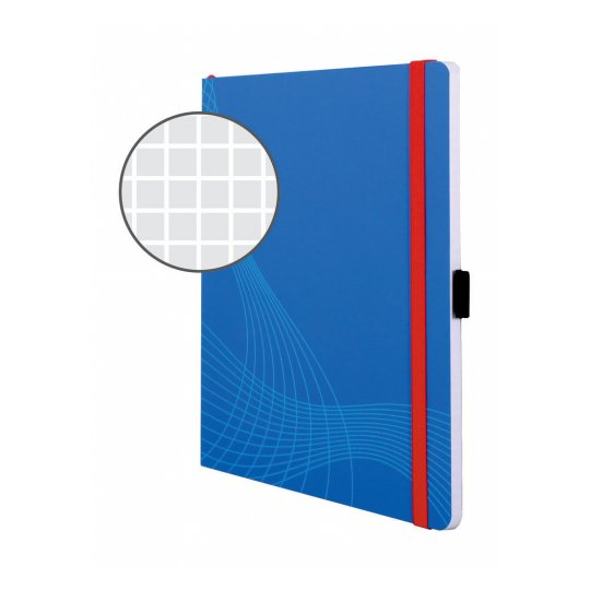 Блокнот Notizio для записей, в клетку, А5, синий, 80 л.