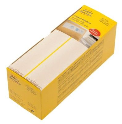 Белые адресные франко-этикетки из бумаги, 194 x 39, 3430