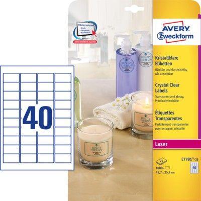 Прозрачные этикетки из полиэстера, 45.7 x 25.4, L7781-25