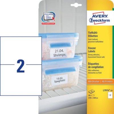 Белые морозостойкие этикетки из бумаги, 210 x 148, L7974-25