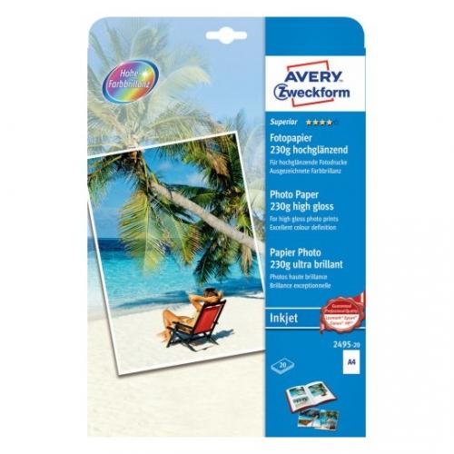 Высококачественная глянцевая фотобумага для струйного принтера, А4, 2495-20
