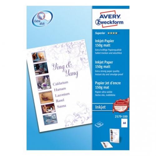 Высококачественная бумага матовая для струйных принтеров, А4, 2579-100