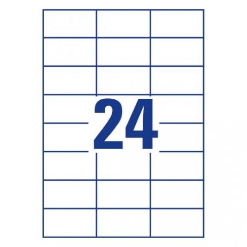 Белые самоклеющиеся универсальные этикетки, 70 x 37мм, 3474 - 200