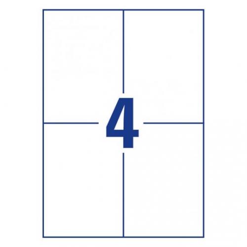 Белые самоклеющиеся универсальные этикетки, 105 x 148мм, 3483 - 200