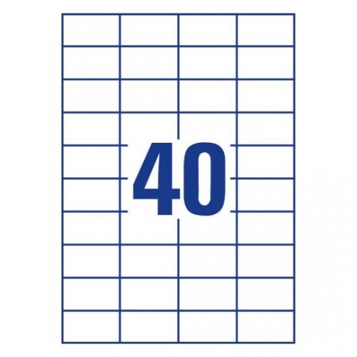 Белые самоклеющиеся универсальные этикетки, 52,5 x 29,7мм, 3651 - 200