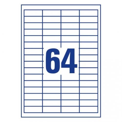 Белые самоклеющиеся универсальные этикетки, 48,5 x 16,9мм, 3667 - 200