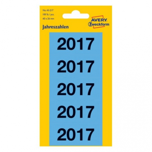 Этикетки для папок на 2017 год из бумаги, 60 x 26, 43-217