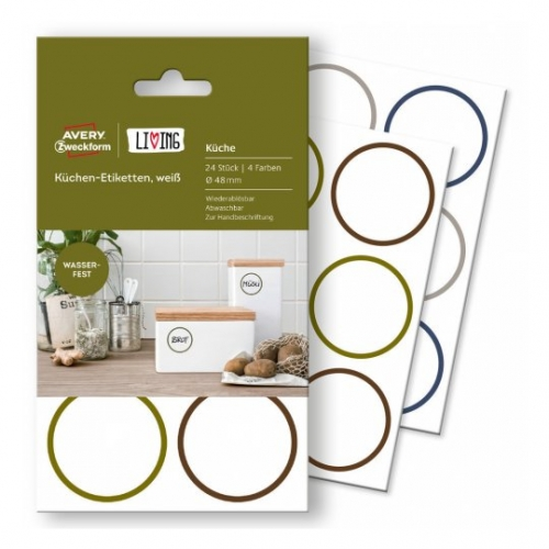 Этикетки living для кухни, d=48мм, 62001