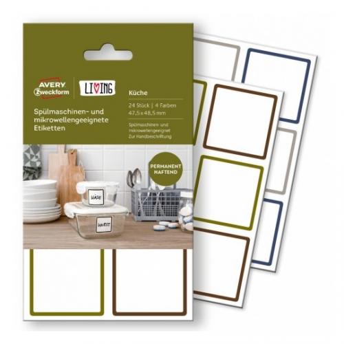 Этикетки living для СВЧ посуды и посудомоечных машин, 62004