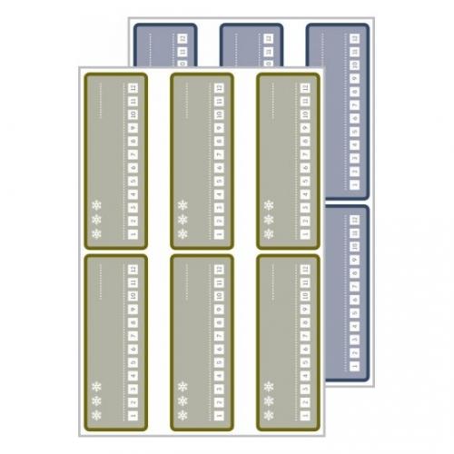 Морозостойкие этикетки living, 26 x 73мм, 62005