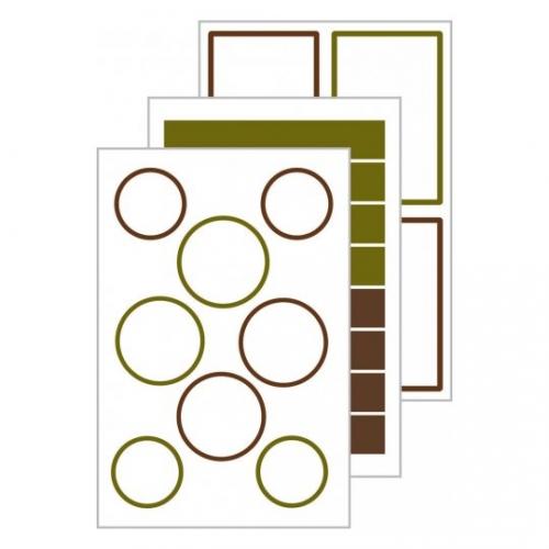 Этикетки living для банок с защитной лентой, 47,5 х 73мм, 62008