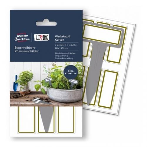 Бирки living для растений, бирка: 76 x 145мм, этикетка 27 x 68мм, 62028