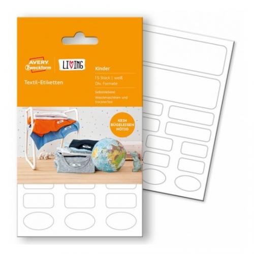 Этикетки living для одежды 4х форматов, 62033