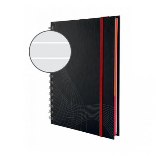 Блокнот Notizio для записей, в линейку, А4, серый, 90 л.