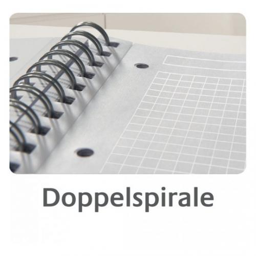 Блокнот Notizio для записей, в клетку, А5, серый, 90 л.