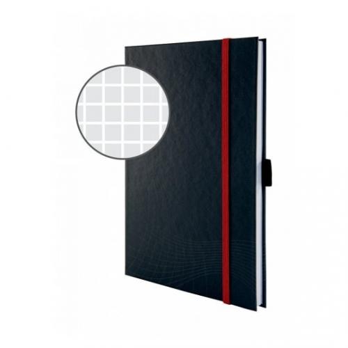 Блокнот Notizio для записей, в клетку, А4, серый, 80 л.