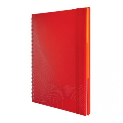 Блокнот Notizio для записей, в клетку, А4, красный, 90 л.