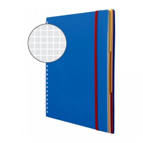 Блокнот Notizio для записей, в клетку, А4, синий, 90 л.