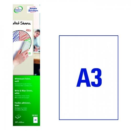 Белые этикетки-доски, А3, 70702