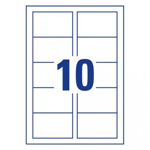 Заготовки для визитных карточек, сатин, 85 х 54мм, C32011-25