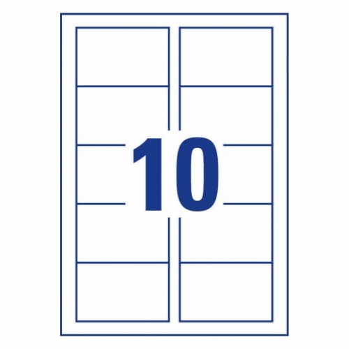 Заготовки для визитных карточек, двусторонние, 85 х 54мм, C32026-25