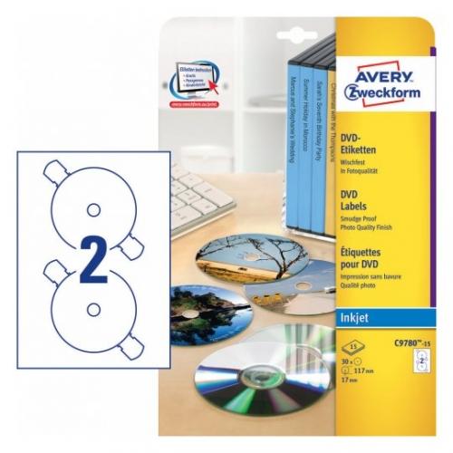 Матовые этикетки для DVD, d117мм, C9780-15