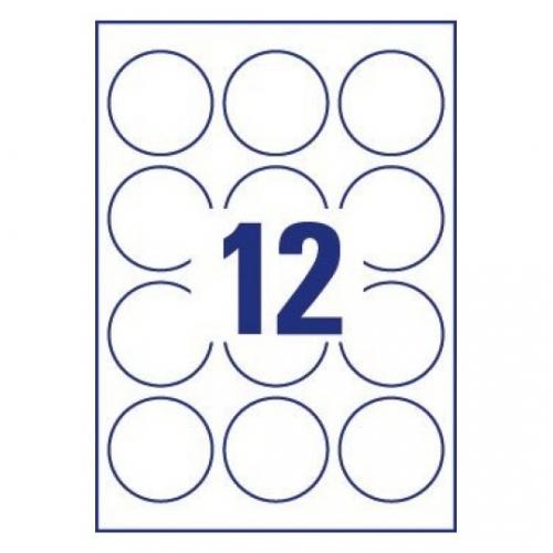 Удаляемые круглые этикетки, d=60мм, L7104REV-20