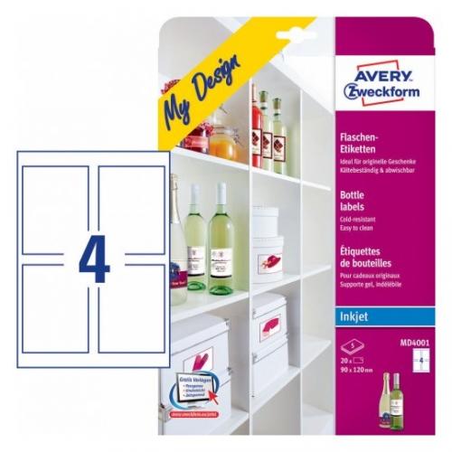 Этикетки  для бутылок, 90 х 120мм, MD4001