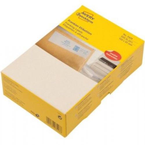 Белые адресные франко-этикетки из бумаги, 150 x 45, 3428