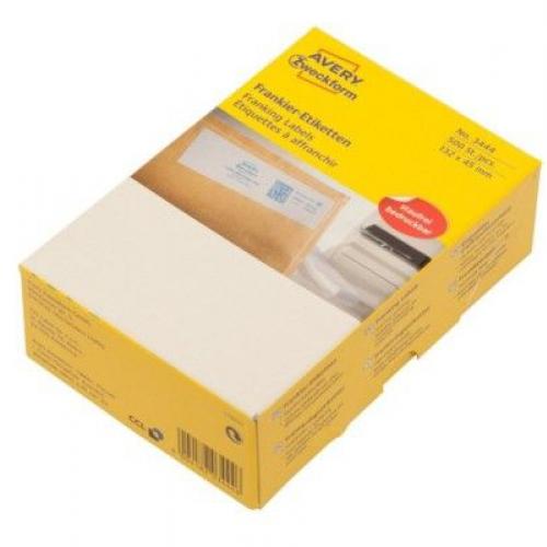 Белые адресные франко-этикетки из бумаги, 132 x 45, 3444