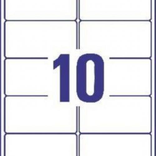 Прозрачные этикетки из полиэстера, 96 x 50.8, J4722-25