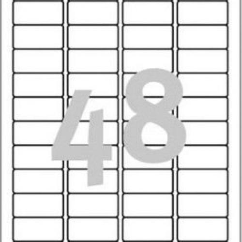 Белые адресные мини-этикетки из бумаги, 45.7 x 21.2, J4791-25