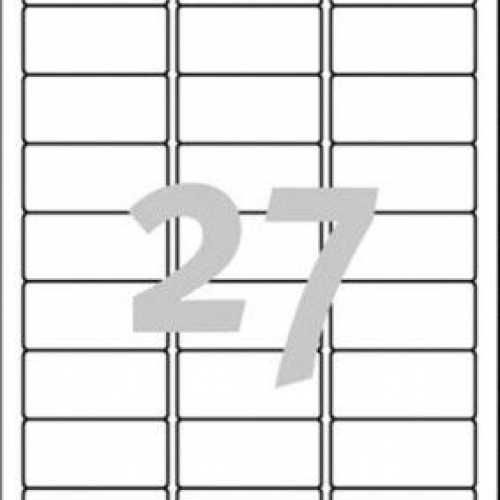 Белые адресные этикетки из бумаги, 63.5 x 29.6, J4792-25