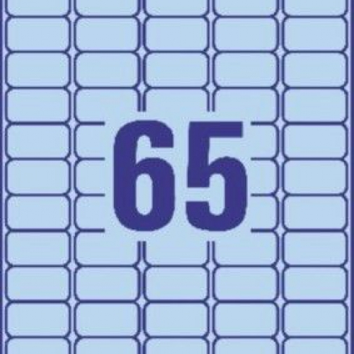 Синие бумажные мини-этикетки, 38 x 21.2, L4791-20