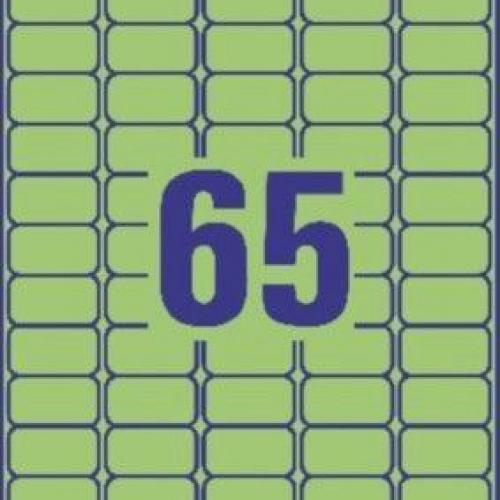 Зеленые бумажные мини-этикетки, 38.1 x 21.2, L4792-20