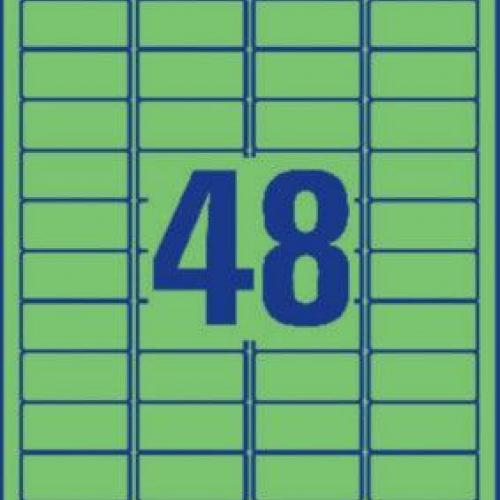 Зеленые бумажные мини-этикетки, 45.7 x 21.2, L6040-20