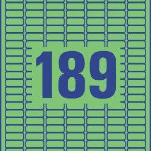 Зеленые бумажные мини-этикетки, 25.4 x 10, L6049-20