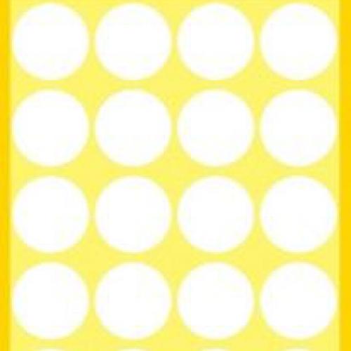 Белые этикетки-точки из бумаги, ? 18, 3170